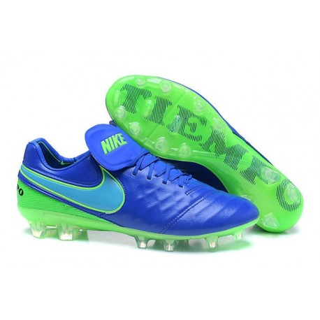 Nike Tiempo Legend 6 FG ACC Soccer Cleats Blue Green