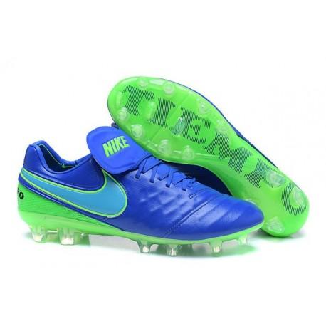 huge discount b5d75 f1901 Nike Tiempo Legend 6 FG ACC Soccer Cleats Blue Green
