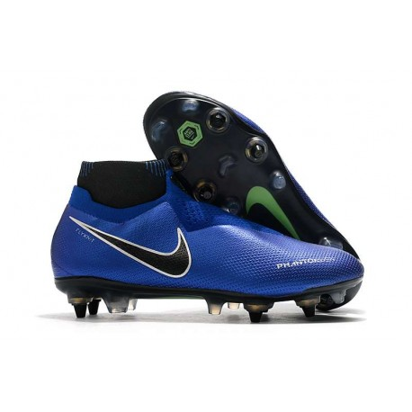 Nike Phantom Vision Elite DF SG Pro AC Racer Blue Black Metallic Silver