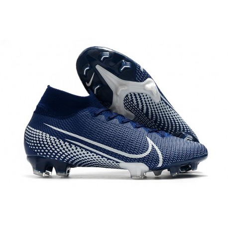 Top Nike Mercurial Superfly VII Elite FG Blue White