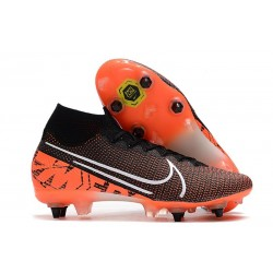 Nike Mercurial Superfly 7 Elite SG-PRO AC Black White Hyper Crimson