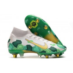 Nike Mercurial Superfly 7 Elite SG-PRO AC Mbappe White Green Gold