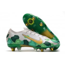 Nike Mercurial Vapor 13 Elite SG-Pro Anti-Clog Mbappé Grey Gold Green
