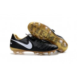 Nike Tiempo Legend 6 FG ACC Soccer Cleats Black White Gold