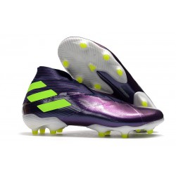 Adidas Nemeziz 19+ FG Soccer Cleat -Purple Volt