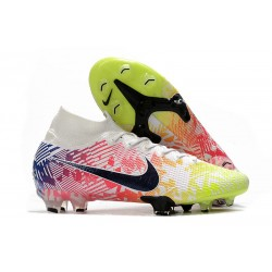 Top Nike Mercurial Superfly VII Elite FG Neymar White Black Racer Blue Volt