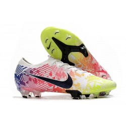 Nike Mercurial Vapor 13 Elite Firm Ground Neymar White Black Blue Volt