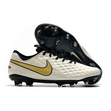 Nike Tiempo Legend 8 Elite FG Firm-Ground Boot White Golden