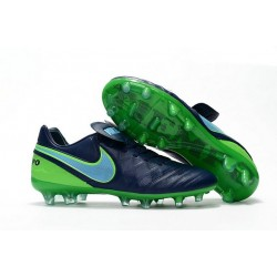 New Nike Tiempo Legend VI FG Firm Ground Football Shoes Black Green