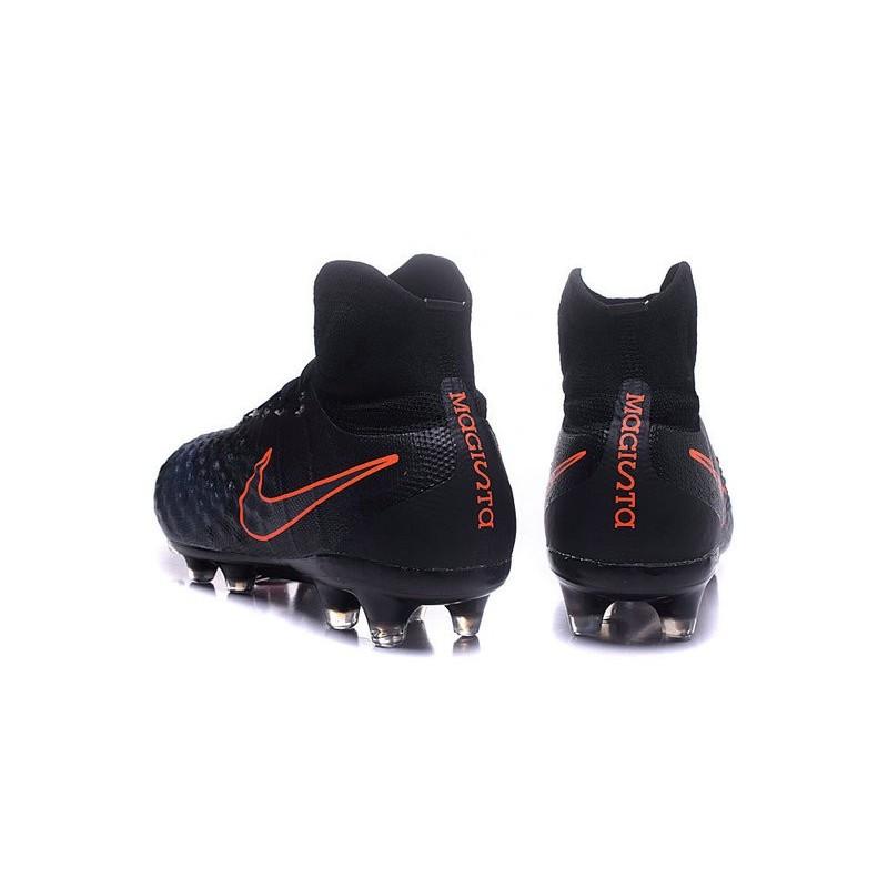 new products 57e2d 78e6b ... order nike magista obra ii mens firm ground football boots black orange  5605b 4a5e3