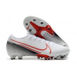 Nike Mercurial Vapor XIII Elite AG Shoes White Laser Crimson