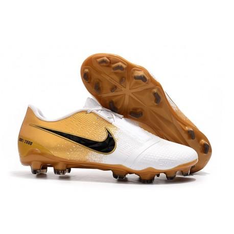 Nike Phantom Venom Elite FG Boots Golden White Black