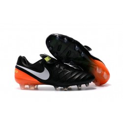 New Nike Tiempo Legend VI FG Firm Ground Football Shoes Black Orange