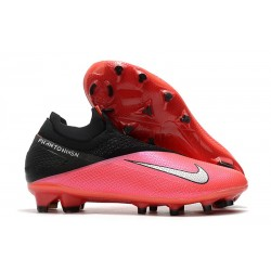 Nike Phantom Vision II Elite DF FG Laser Crimson Metallic Silver Black