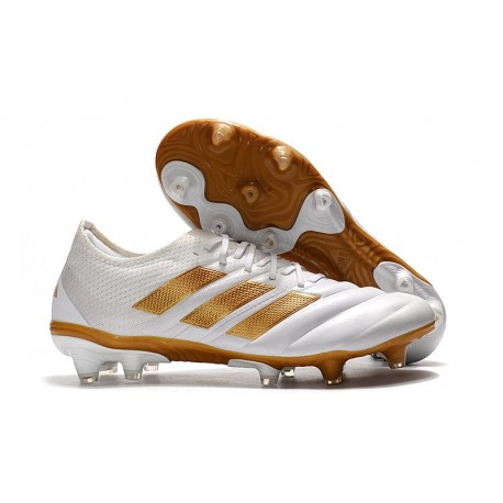 Adidas Copa 19.1 FG Firm Ground Mens Boots -White Golden