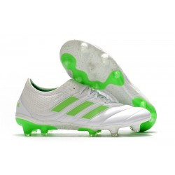 Adidas Copa 19.1 FG Firm Ground Mens Boots -White Solar Lime