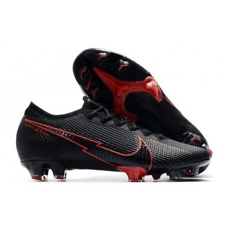 Nike Mercurial Vapor 13 Elite Firm Ground Black Red