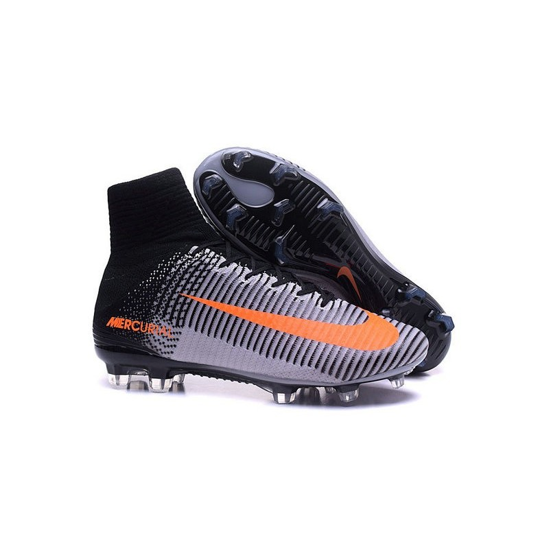 0e06299dba7f5 Nike Mercurial Superfly V FG Firm Ground Mens Soccer Cleats- Black Orange