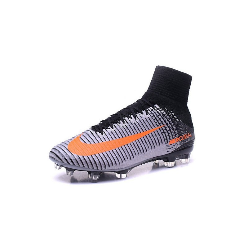 promo code 1d0a4 6821c Nike Mercurial Superfly V FG Firm Ground Mens Soccer Cleats- Black Orange