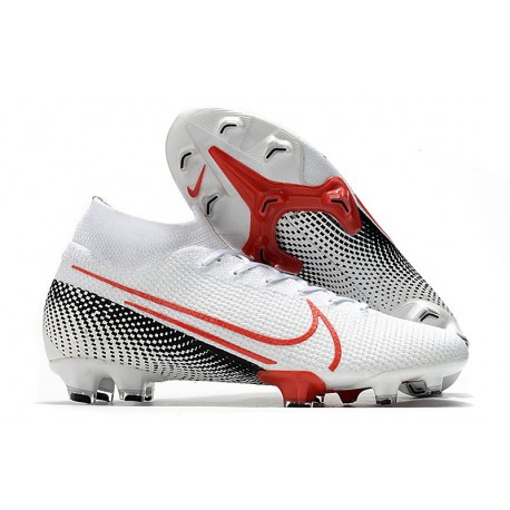 Nike Mercurial Superfly 7 Elite FG LAB2 - White Laser Crimson Black