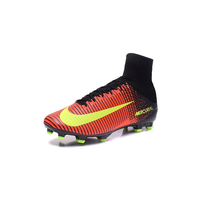 0725cbb462bf ... Nike Mercurial Superfly V FG Firm Ground Mens Soccer Cleats Crimson  Volt Pink ...