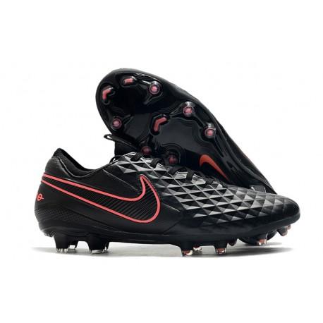 Leather Nike Tiempo Legend VIII Elite FG Black Pink