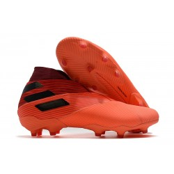 Adidas Nemeziz 19+ FG Soccer Cleat - Signal Coral Core Black Glory Red