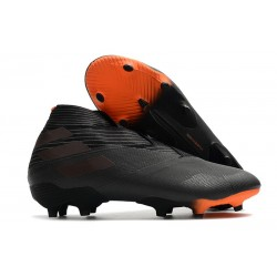 Adidas Nemeziz 19+ FG Soccer Cleat - Core Black Signal Orange