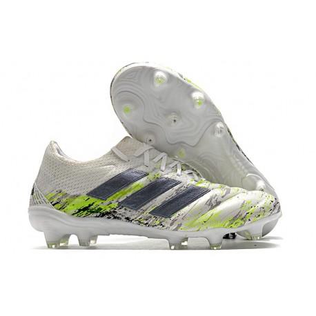 Adidas Copa 20.1 FG Soccer Cleat White Core Black Signal Green