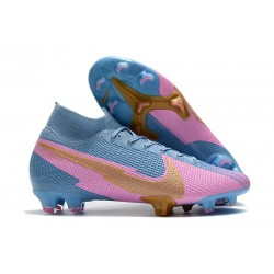 Nike Mercurial Superfly VII Elite DF FG Blue Pink Gold