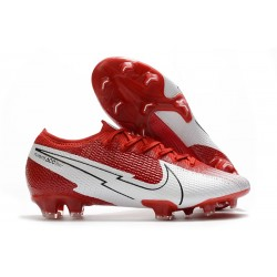 New Nike Mercurial Vapor 13 Elite FG Crimson White