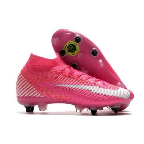 Nike Mercurial Superfly VII Elite SG PRO Anti-Clog Mbappé Rosa Pink