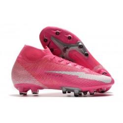 Nike Mercurial Superfly VII Elite AG-PRO Mbappe Pink Blast White Black