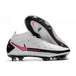 Nike Phantom GT Elite Dynamic Fit FG Firm-Ground White Pink Black