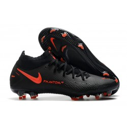 Nike Phantom GT Elite Dynamic Fit FG Firm-Ground Black ChiliRed SmokeGrey