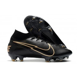 Nike Mercurial Superfly VII Elite DF FG Black Golden
