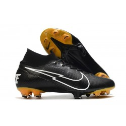 Nike Mercurial Superfly VII Elite DF FG Black White