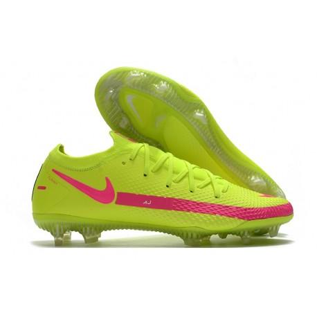 Nike Phantom GT Elite FG New Brazil Boots Yellow Pink
