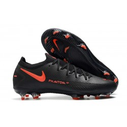 Nike Phantom GT Elite FG New Boots Black Dark Smoke Grey Chile Red