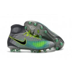 Nike Magista Obra II Men's Firm Ground Football Boots Grey Blue