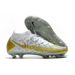 Nike Phantom GT Elite Dynamic Fit FG Firm-Ground White Gray Gold