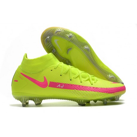 Nike Phantom GT Elite Dynamic Fit FG Firm-Ground Green Pink