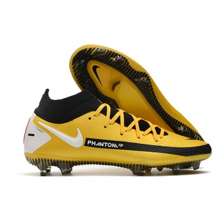 New Nike Phantom Generative Texture GT Elite FG Yellow Black White