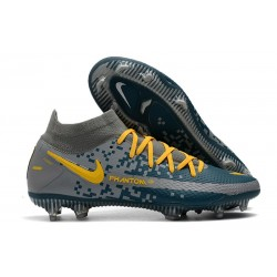 New Nike Phantom Generative Texture GT Elite FG Grey Cyan Yellow
