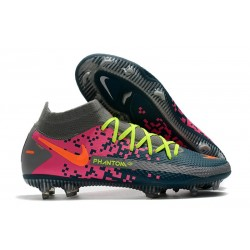 Nike Phantom GT Elite Dynamic Fit FG Firm-Ground Navy Blue Grey Pink
