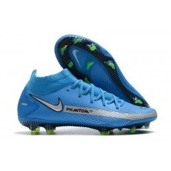 New Nike Phantom Generative Texture GT Elite FG Blue Silver