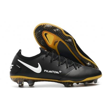Nike Phantom GT Elite FG New Boots Black White Gold
