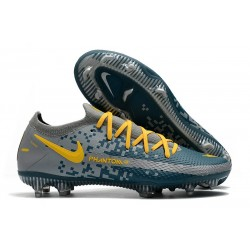 Nike Phantom GT Elite Tech Craft FG Cleat Navy Blue Yellow