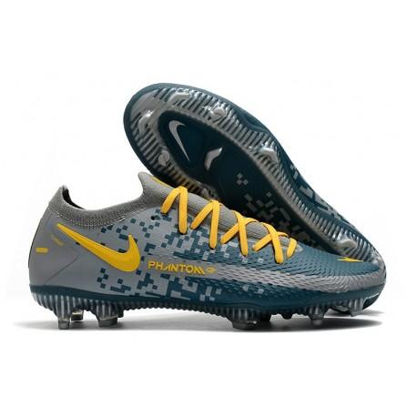 Nike Phantom GT Elite Tech Craft FG Cleat Navy Blue Yellow